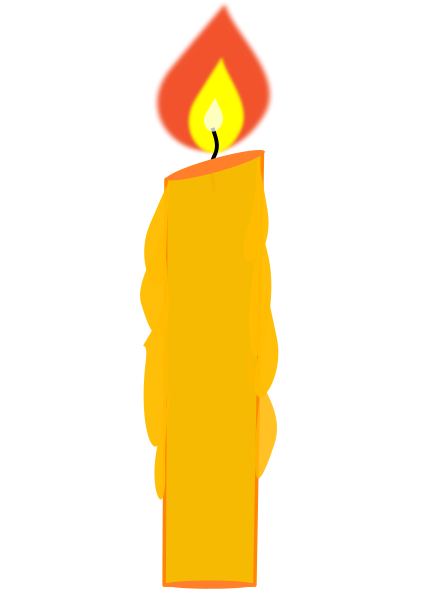 Memorial candle clipart.