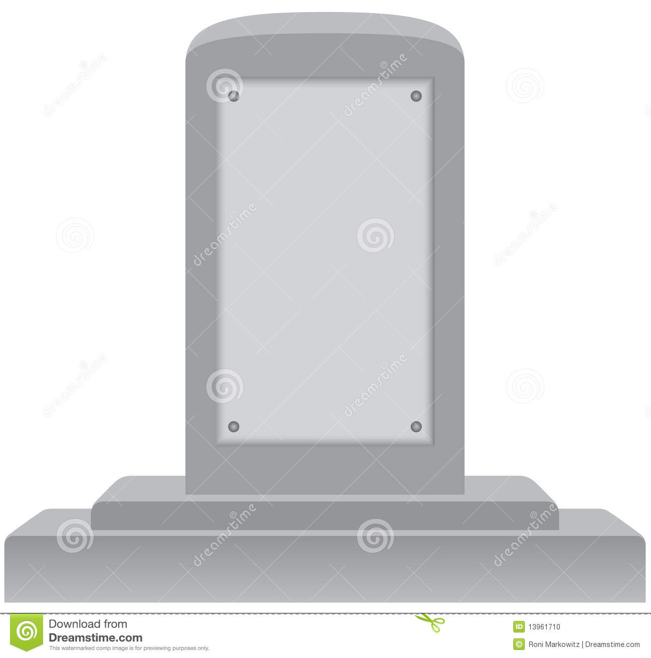 Blank Memorial Plaque Stock Image.