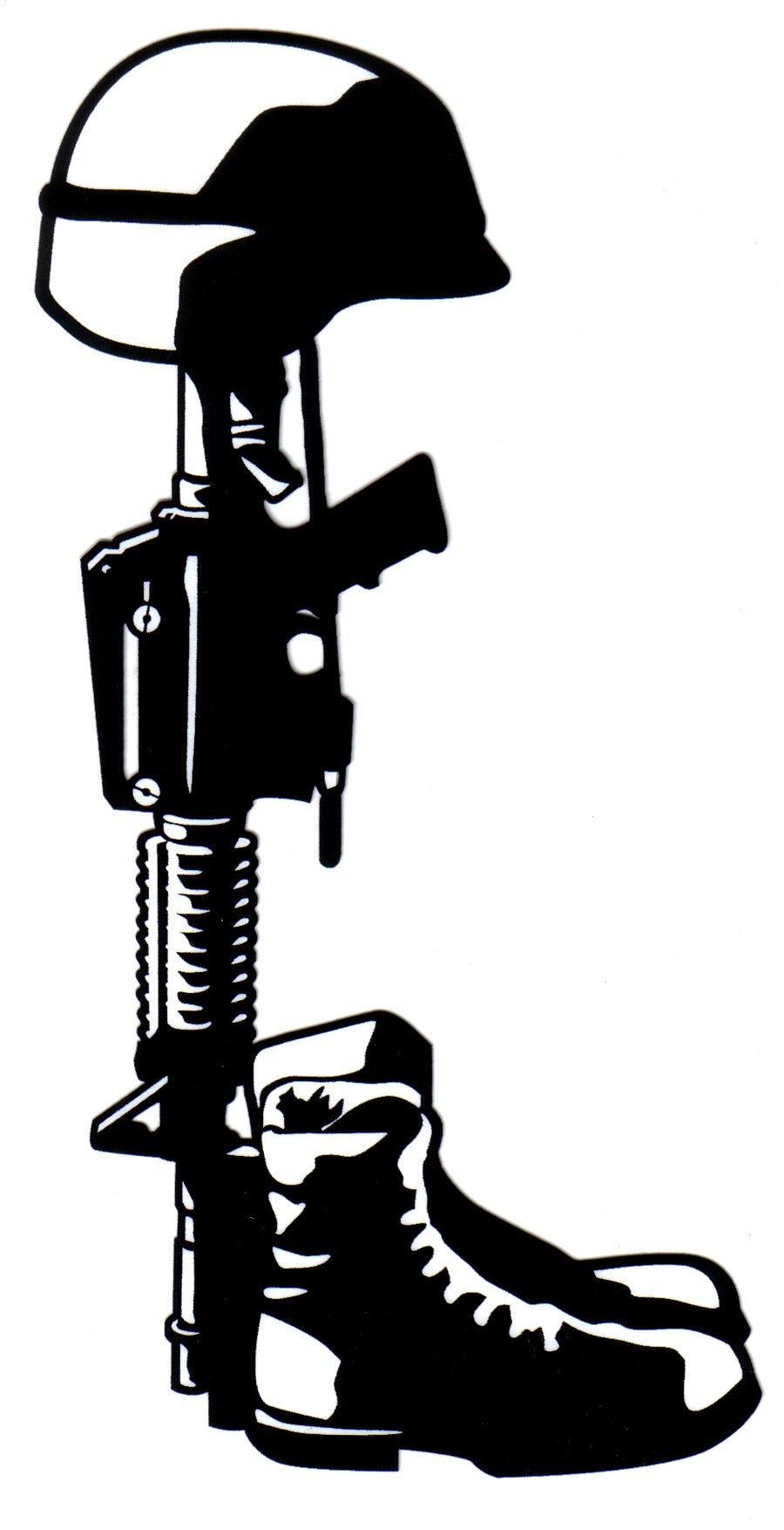 Fallen Soldier Clipart.