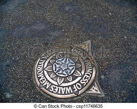 Stock Photos of Memorial walk of Diana Princess of Wales.