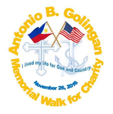 Antonio B. Golingan Memorial Walk for Charity.