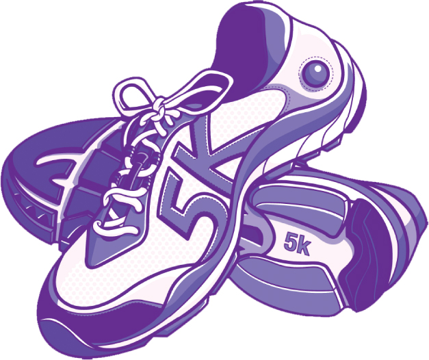 5k Run Walk Clipart.