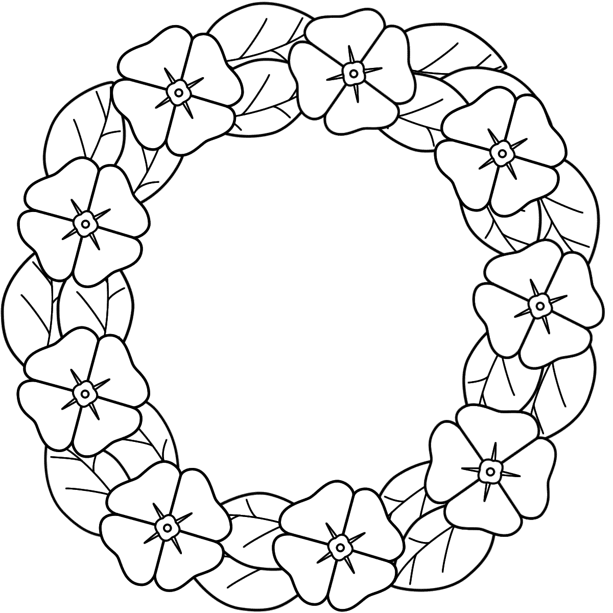 Remembrance Day Wreath Clipart.