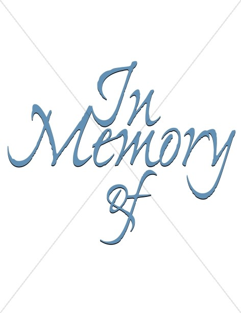 Church Memorial Clipart, Memorial Service Clip Art.