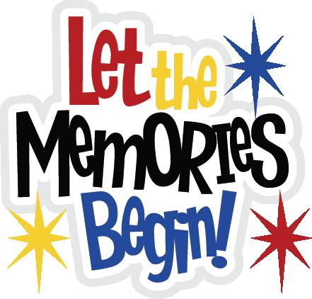 Let The Memories Begin SVG file for scrapbooking cute svg.