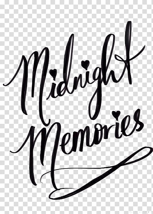 Midnight memories text transparent background PNG clipart.