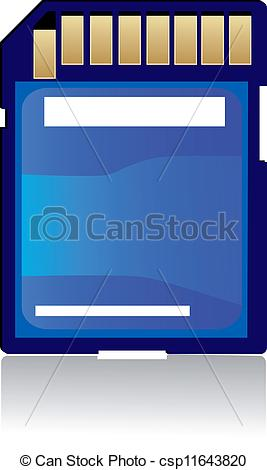 Electronic Memory Card Clipart.