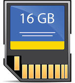 Royalty Free Memory Card Clip Art.