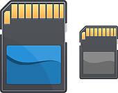 Memory Card Clip Art.