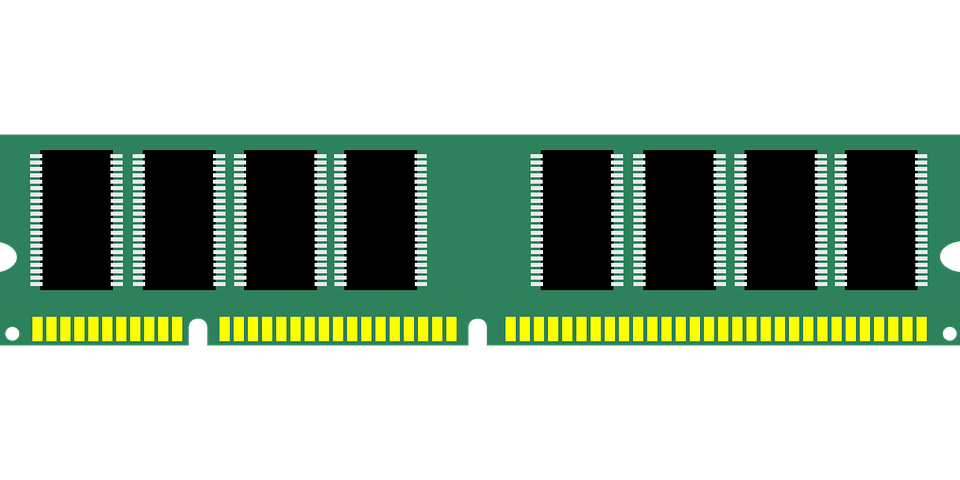 Free vector graphic: Memory, Chip, Ram, Microchip.