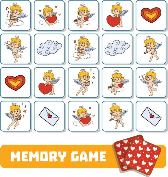Memory Card Game Clip Art, Vector Images & Illustrations.