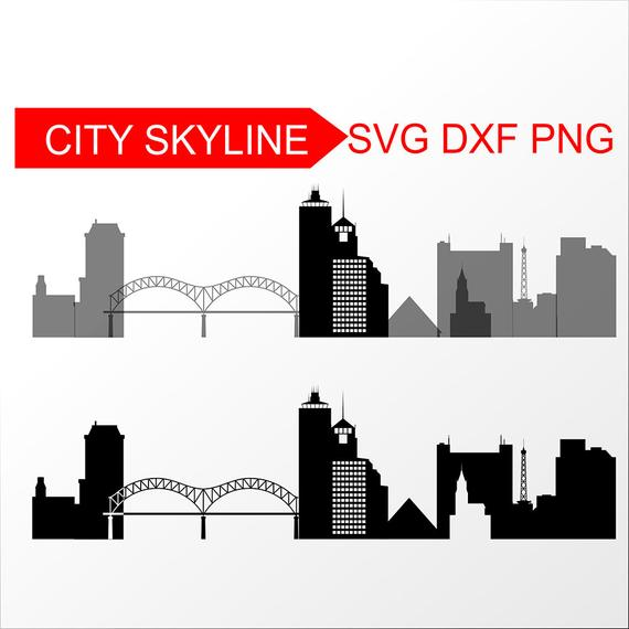Memphis, Tennessee SVG,Memphis Vector Skyline, Memphis silhouette, Svg,  Dxf, Eps, Ai, Cdr, Skyline Clipart, Tennessee clip art.