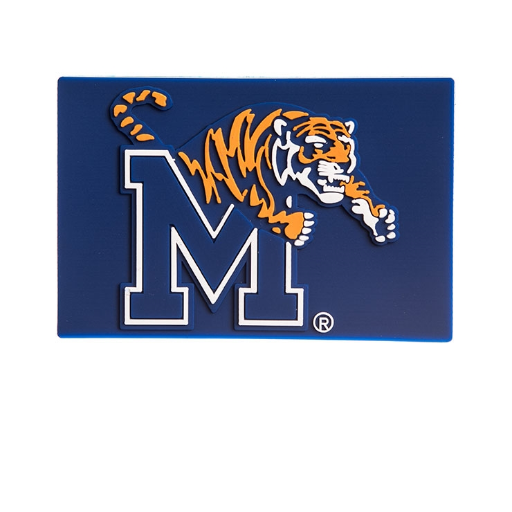 Memphis Tigers Logo PVC Refrigerator Magnet.