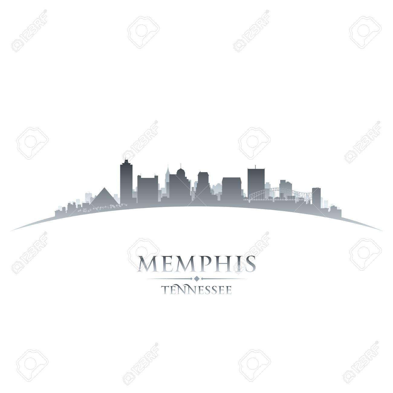 Memphis Tennessee city skyline silhouette. Vector illustration.