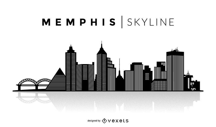 Memphis silhouette skyline.