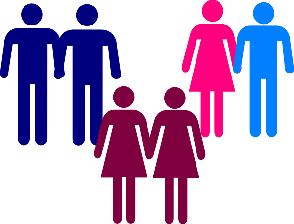 Men And Women Clipart.