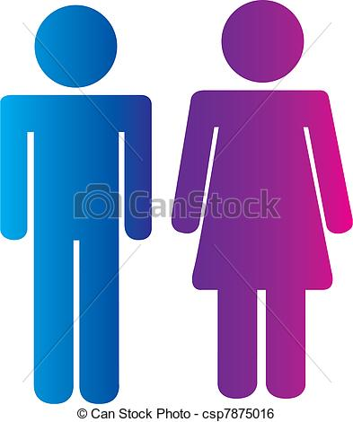 Clip Art Vector of men and women signs.