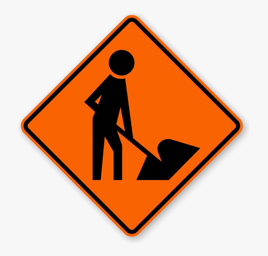 Men At Work Signs.