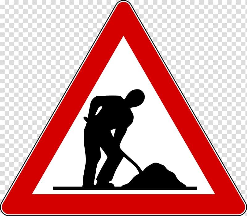 Men at work road signage, Men At Work transparent background.