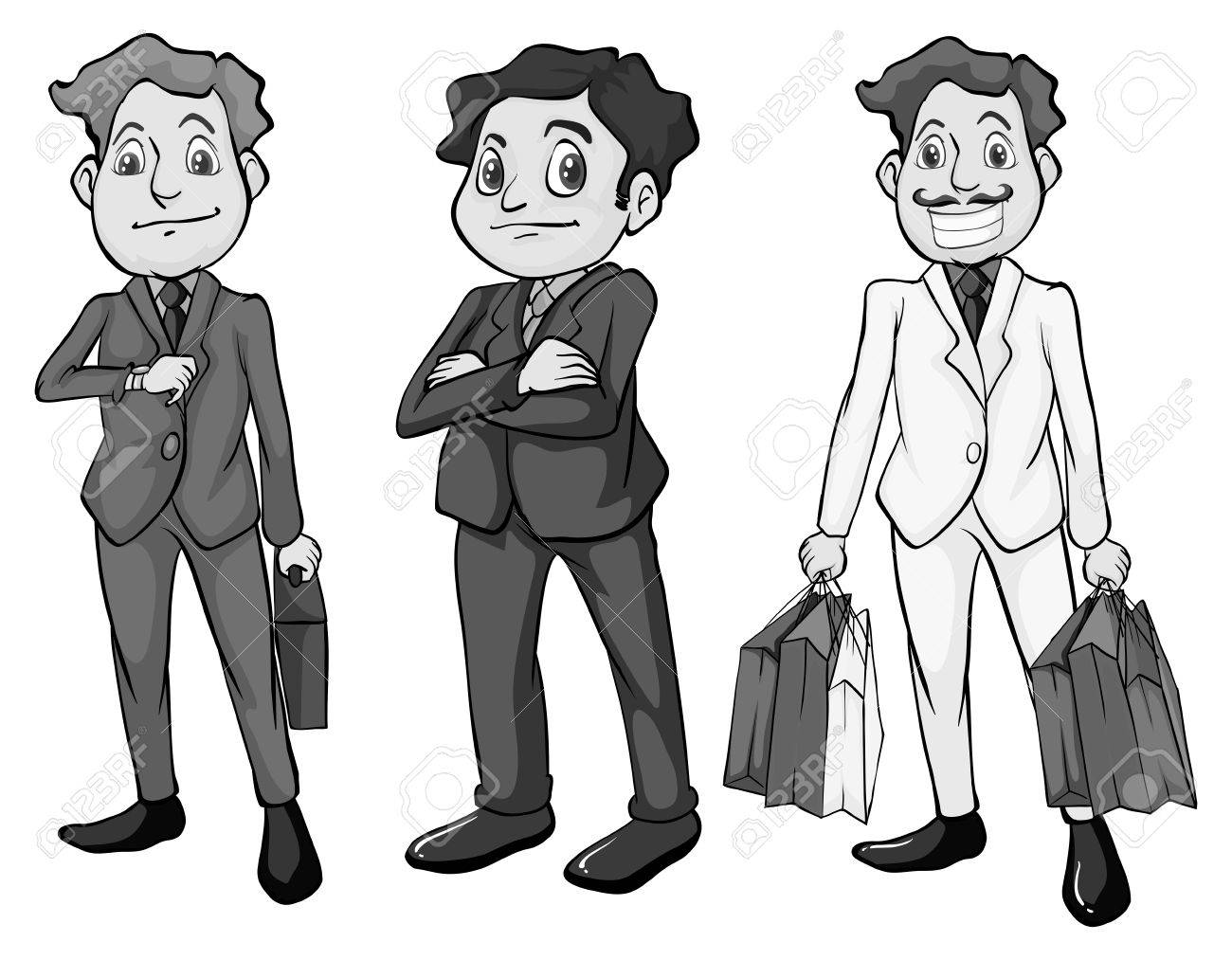 8877 Men free clipart.
