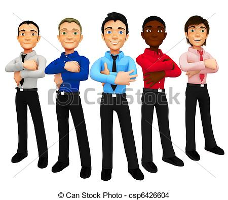 Clip Art Group Of Men Clipart.