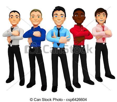 Clip Art Group Of Men Clipart.