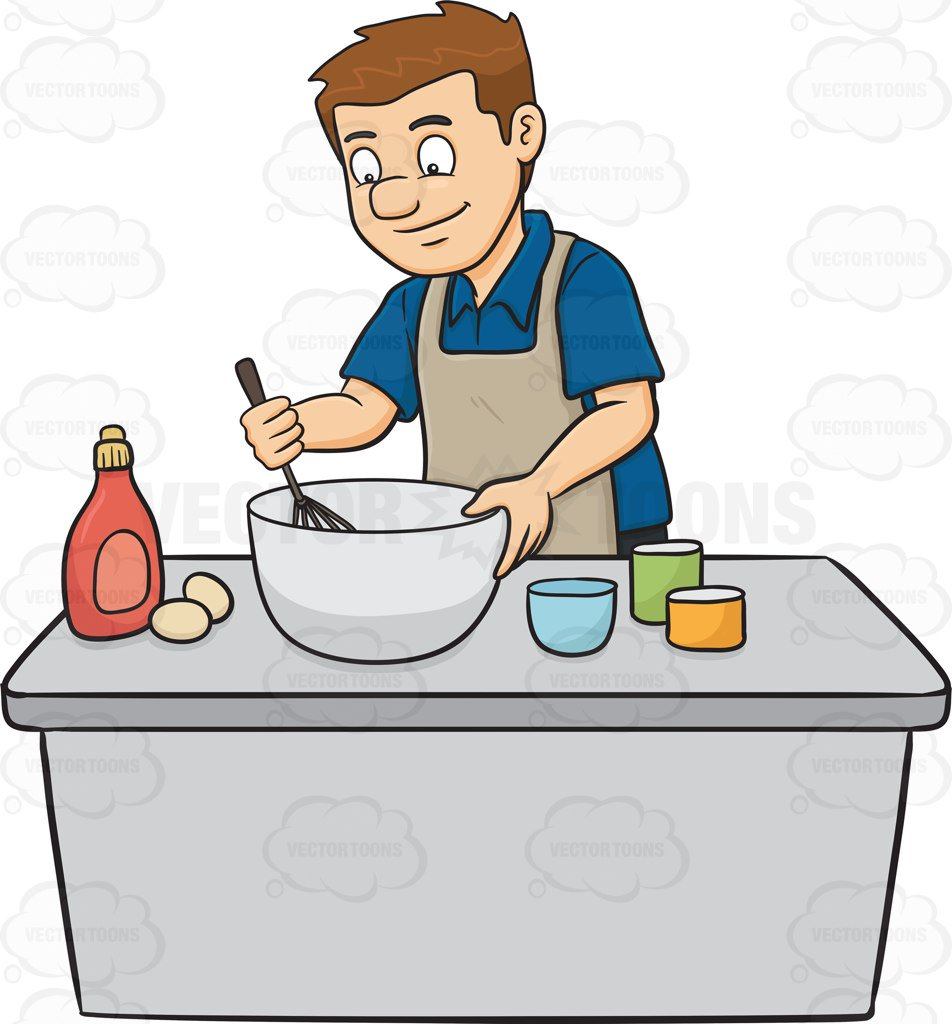 Clipart Man Cooking.