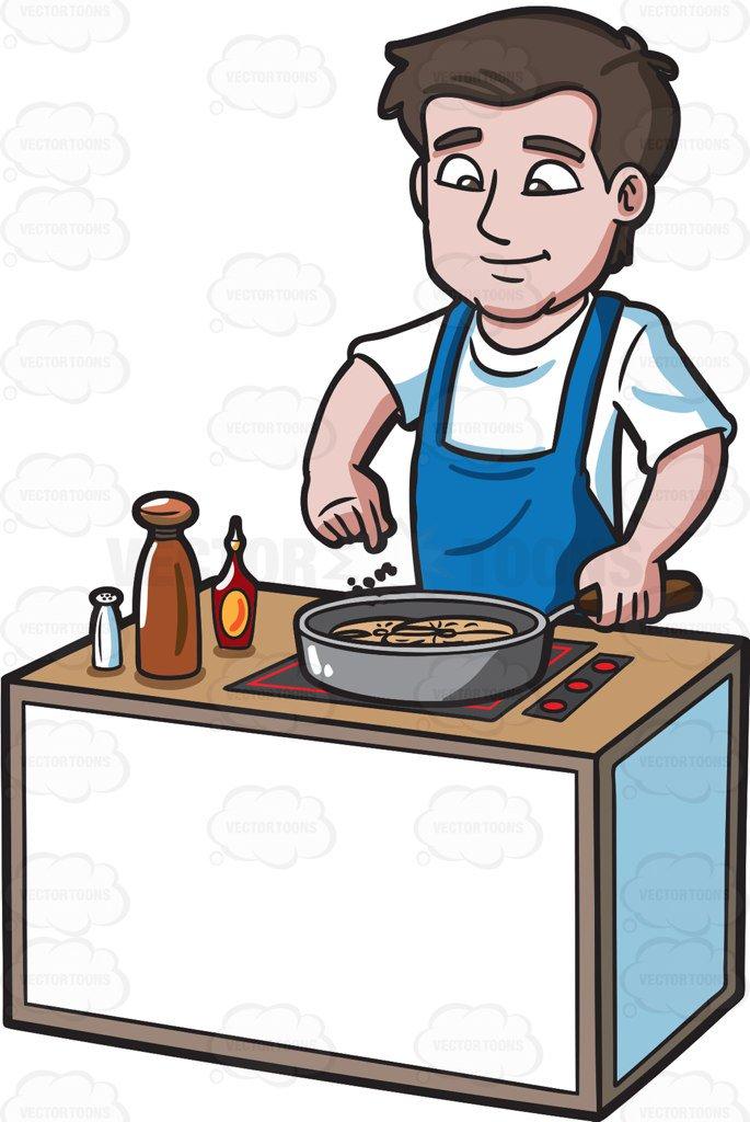 Men Cooking Clipart.
