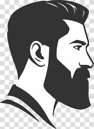 Men\'s black beard , Hairstyle Beard Barber Fashion, beard.