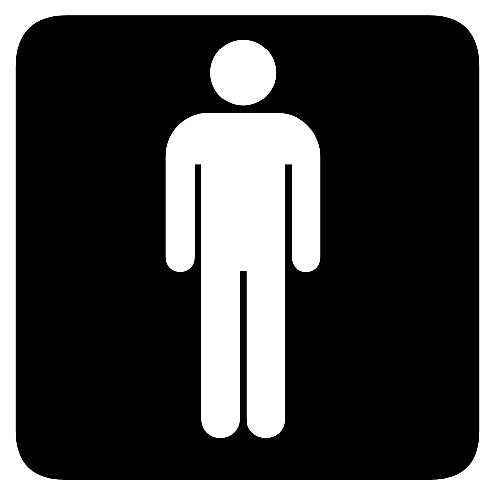 Man Bathroom Clipart.