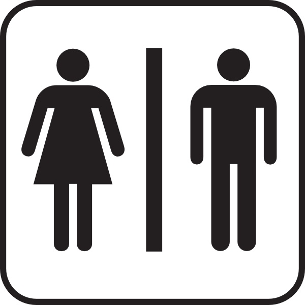 Men Women Bathroom clip art Free vector in Open office drawing svg.