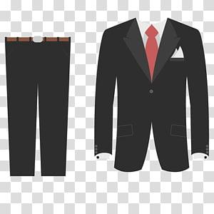 Executive, men\'s black suit coat transparent background PNG.