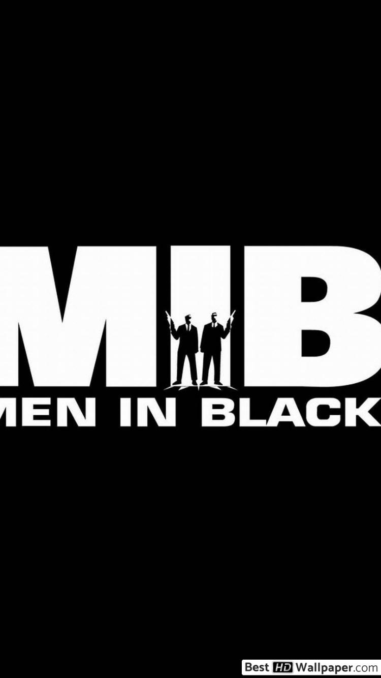 Men in Black movie logo HD wallpaper download.