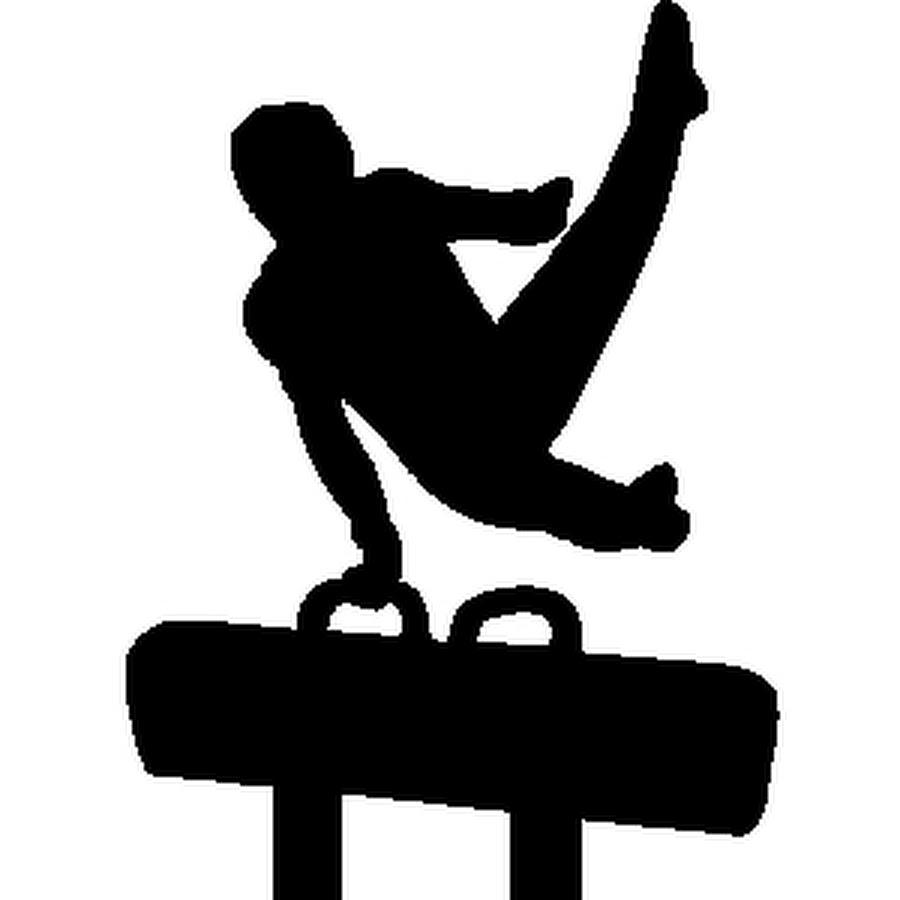 Mens Gymnastics Clipart.