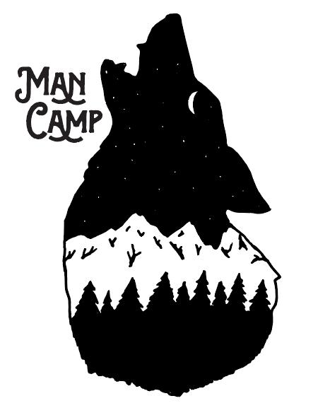 Man Camp men\'s retreat logo.