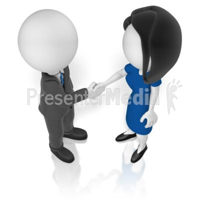 A man and a woman shake hands. #powerpoint #clipart.