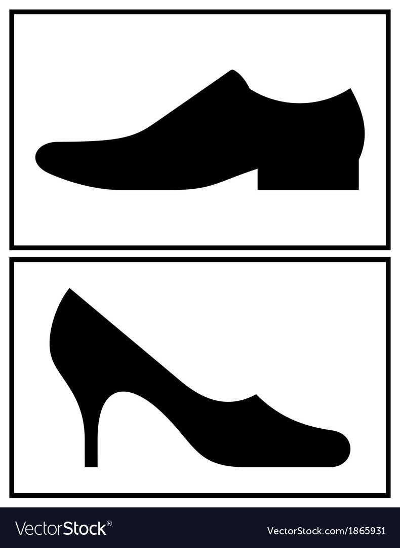 Women and men shoe.