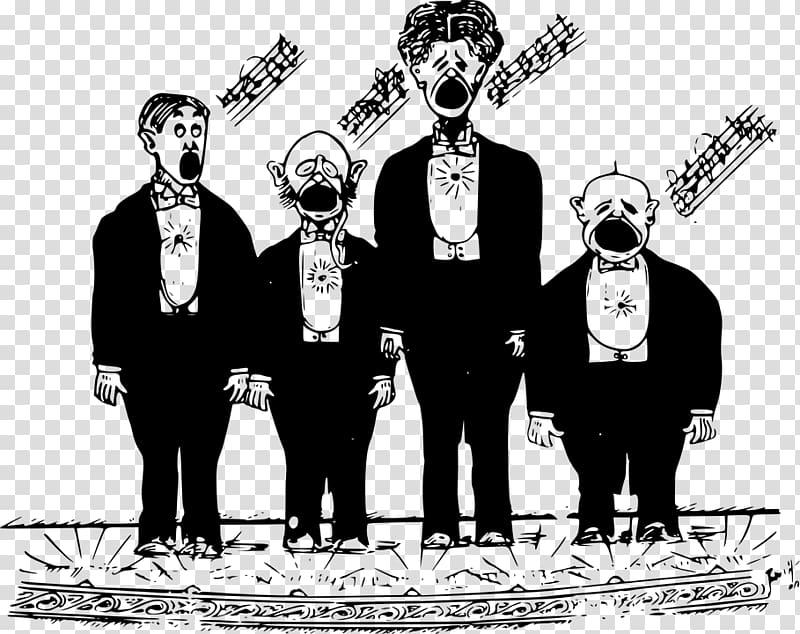 Choir Singing Men\\\'s chorus , singing transparent background.