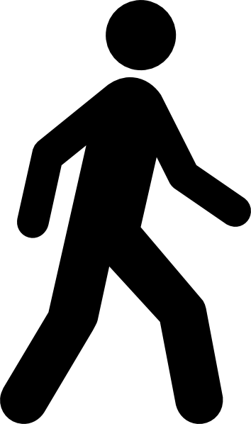 Walking Man Black Clip Art at Clker.com.