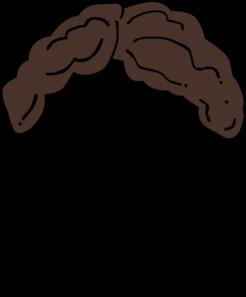Brown Hair Wig Clip Art.