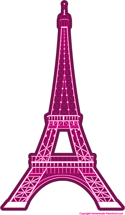Pink Eiffel Tower Clipart.