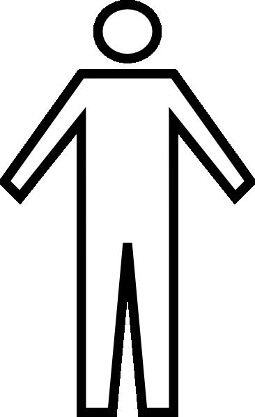 Generic Man Symbol Clip Art at Clker.com.