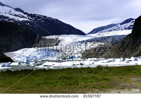 Mendenhall Glacier Stock Photos, Royalty.