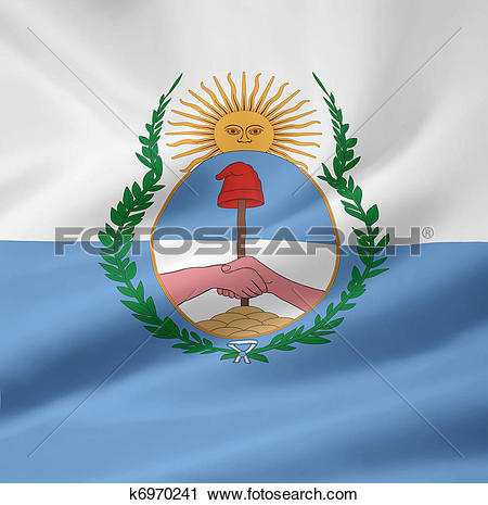 Clipart of Flag of Mendoza.