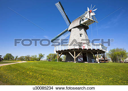 Stock Photo of Windmill, Mennonite Heritage Village, Steinbach.