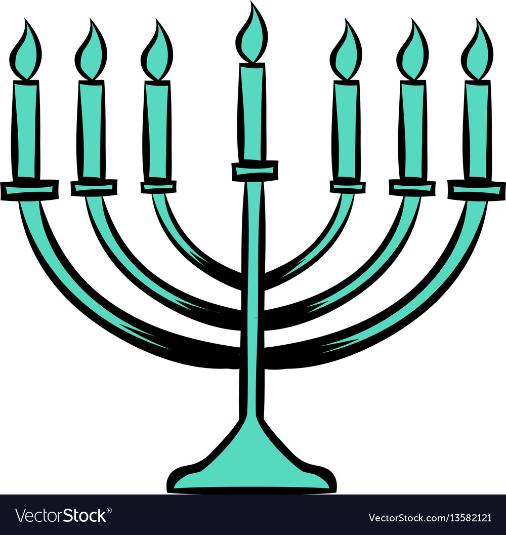 Menorah icon cartoon free vector image clip art.
