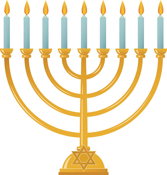 Best Menorah Illustrations, Royalty.