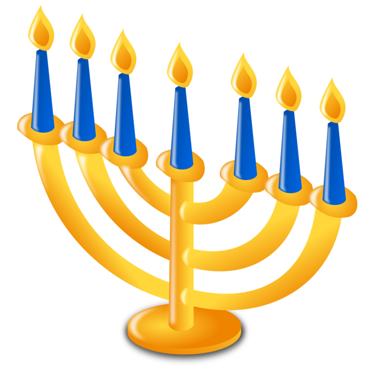 Menorah,Hanukkah,Candle Holder PNG Clipart.