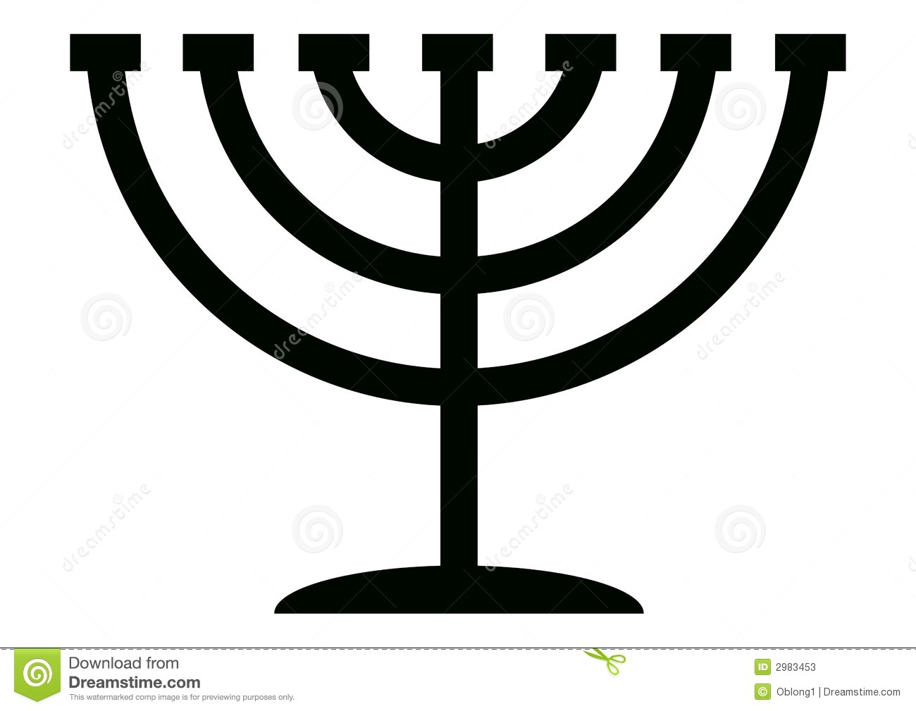 Menorah Stock Illustrations.