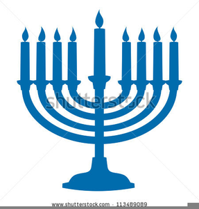 Menorah Candles Clipart.